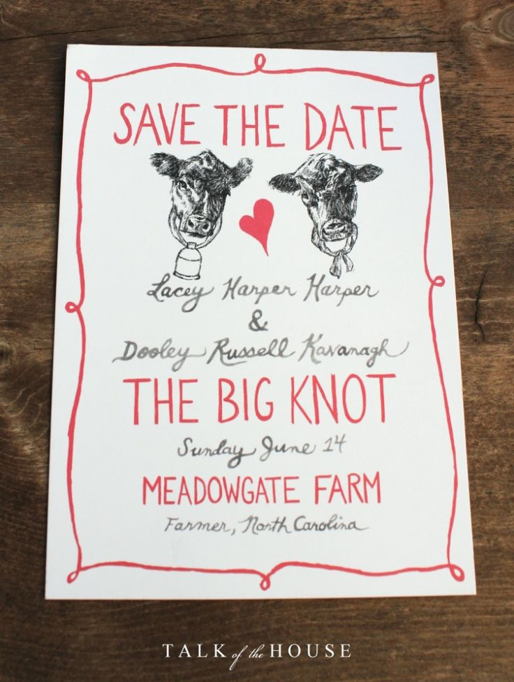 Cute Save-the-date for a Mitford wedding.  Come Rain or Come Shine by Jan Karon