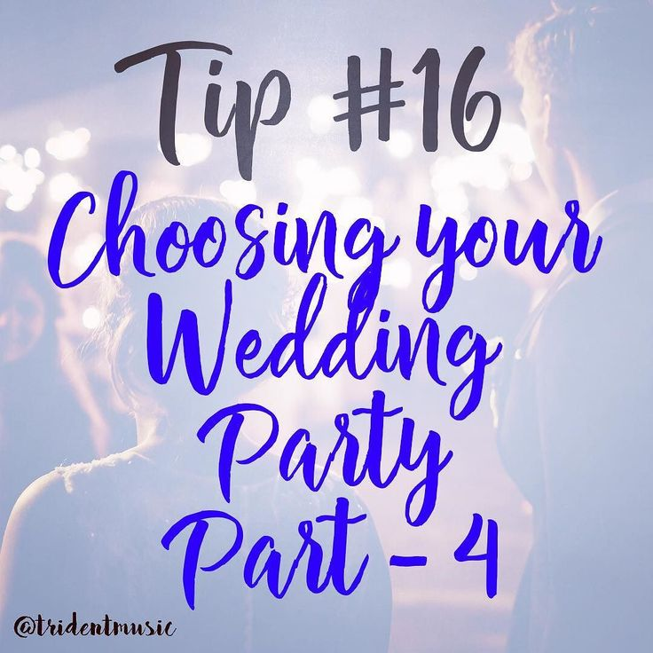 Choosing your wedding party! Part-4  _____ This could easily turn into a really huge posts but Knot.com did a perfect summary of the entire planning of a wedding party members.  The following post can be found at http://ift.tt/2gAzbia will be split into 4 parts.  _____ 7. Don't ask someone just because they asked you. Weddings are no time for quid pro quo. You don't need to ask someone to be in your wedding because they asked you to be in their wedding. Don't ask the college roommate you…