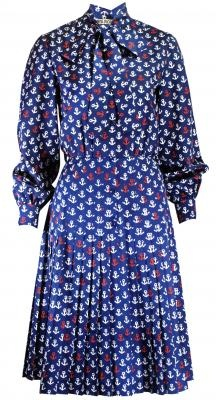 Miss Dior 1960's anchor print dress: History, Fashion, Anchor Print, Key Wardrobe, Day Dresses, 1960 S Anchor