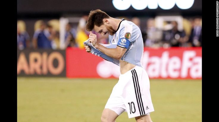 Argentina's Lionel Messi reacts after missing his shot in the penalty shootout against Chile on Sunday, June 26. Chile won the shootout 4-2 to edge Argentina in the final of the Copa America Centenario. Argentina has lost tournament finals in the last three summers: the World Cup final in 2014, the Copa America final in 2015 and the Centenario in 2016. After the match, Messi said he would retire from international soccer. But he returned to the team a couple of months later.