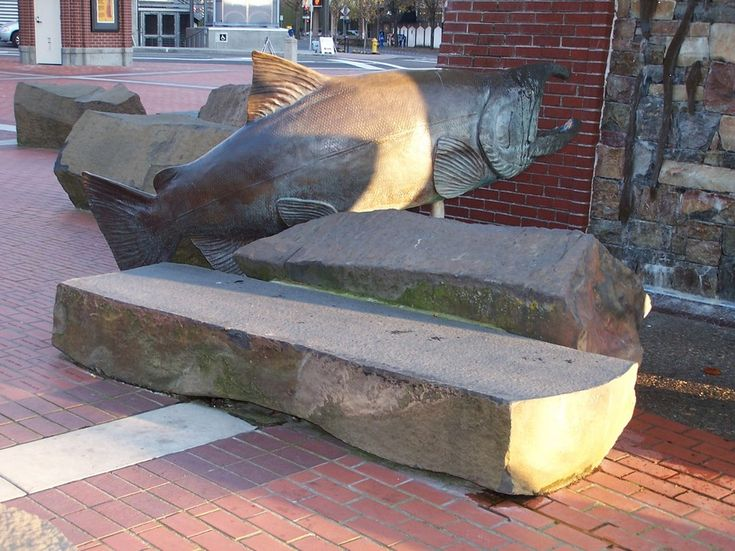 Vancouver, WA : Bench at Esther Short Park