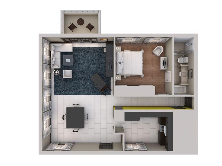 1 Bedroom Apartment Floor Plans 3d 26 best 3d plans images on pinterest | architecture, small houses