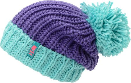 Neff Girls Sofia Purple & Blue Fold Beanie at Zumiez : PDP