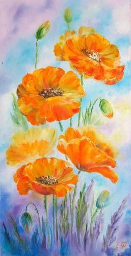 Картины (живопись) : Оранжевые маки