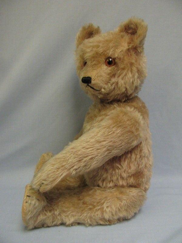"""20"""" Early Schuco 1920s Musical Yes-No Mohair TEDDY BEAR """"Rock-a-bye"""" from turnofthecenturyantiques on Ruby Lane"""
