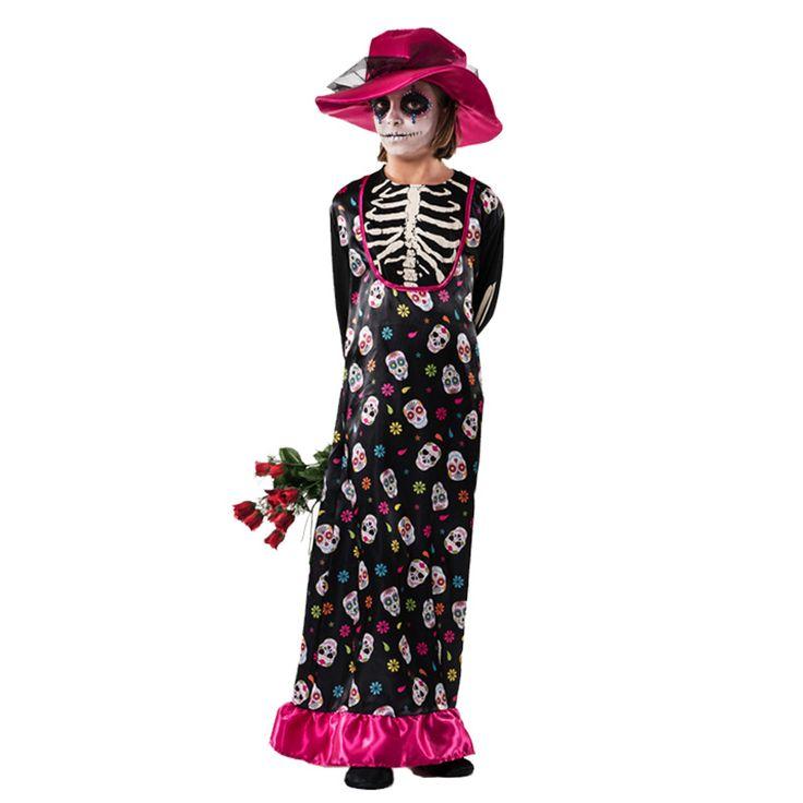 Disfraz de Catrina Muerte Infantil #tienda #disfraces #halloween #novedades
