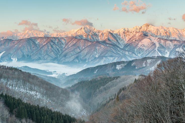 Hida Mountains morning view