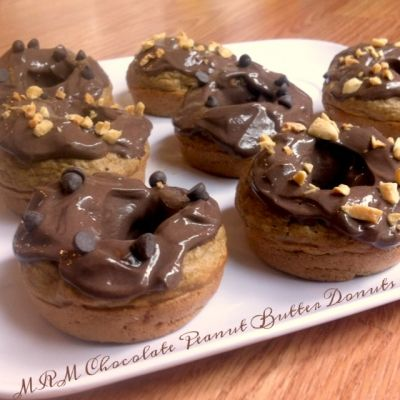 Ripped Recipes - Chocolate Peanut Butter Donuts - A yummy chocolate-peanut butter donut to start your morning off right!