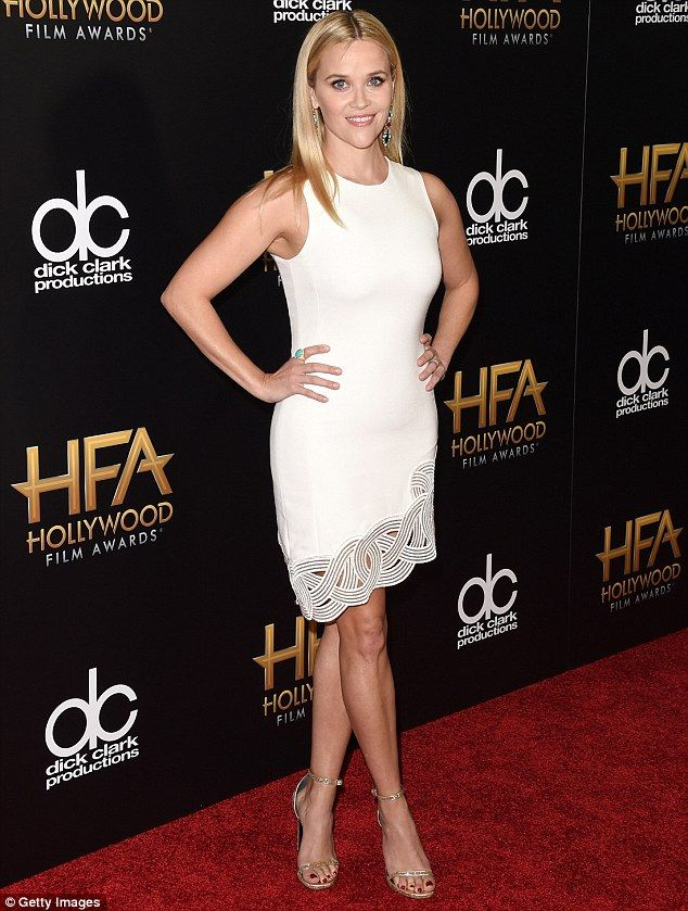 Oh so glamorous: The Oscar winner wowed in white at the Hollywood Film Awards on Sunday...