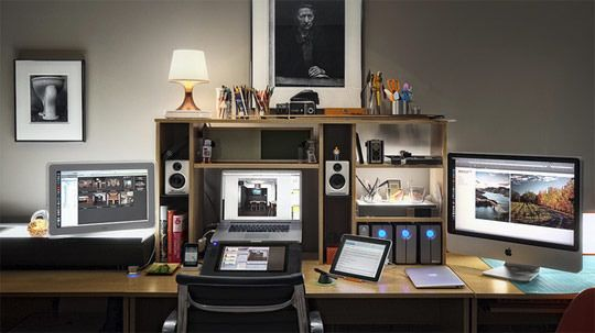 Modern Workspace  :: Apple - Brad Gillette's Isolation Chamber Basement Home Office | Apartment Therapy