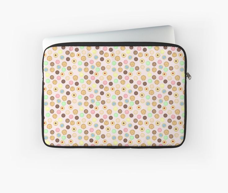 Cookies Pattern Laptop Sleeves by AnMGoug on Redbubble. #cookies #pattern #laptop #bag