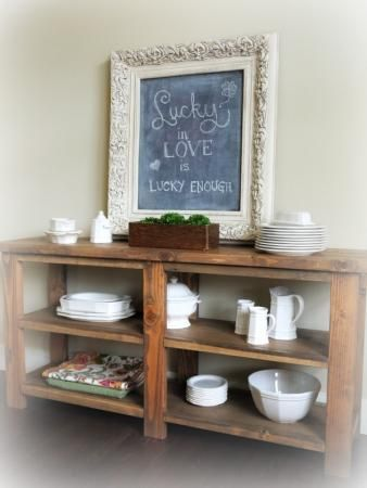 Rustic Buffet Table | Do It Yourself Home Projects from Ana White