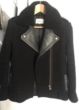 À vendre sur #vintedfrance ! http://www.vinted.fr/mode-femmes/manteau-boyfriend/35625867-perfecto-sandro-noir