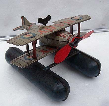 飛行船 プロペラ機 飛行機 戦前のブリキのおもちゃ_画像1