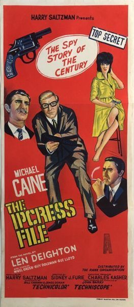 The Ipcress File original vintage 1965 Australian daybill movie poster, featuring Michael Caine. Available for purchase from our website.