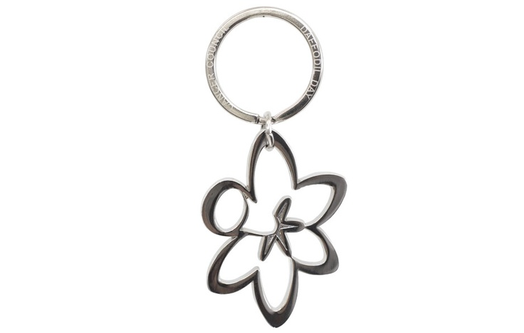 Daffodil-shaped metal key ring $8.Show your support by purchasing one via http://www.daffodilday.com.au & help us beat cancer together.