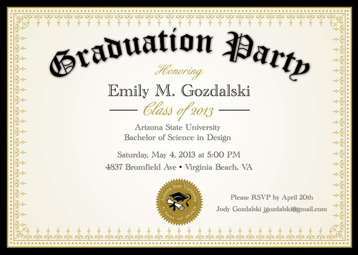 133 best images about Graduation – Invitation to Graduation Party
