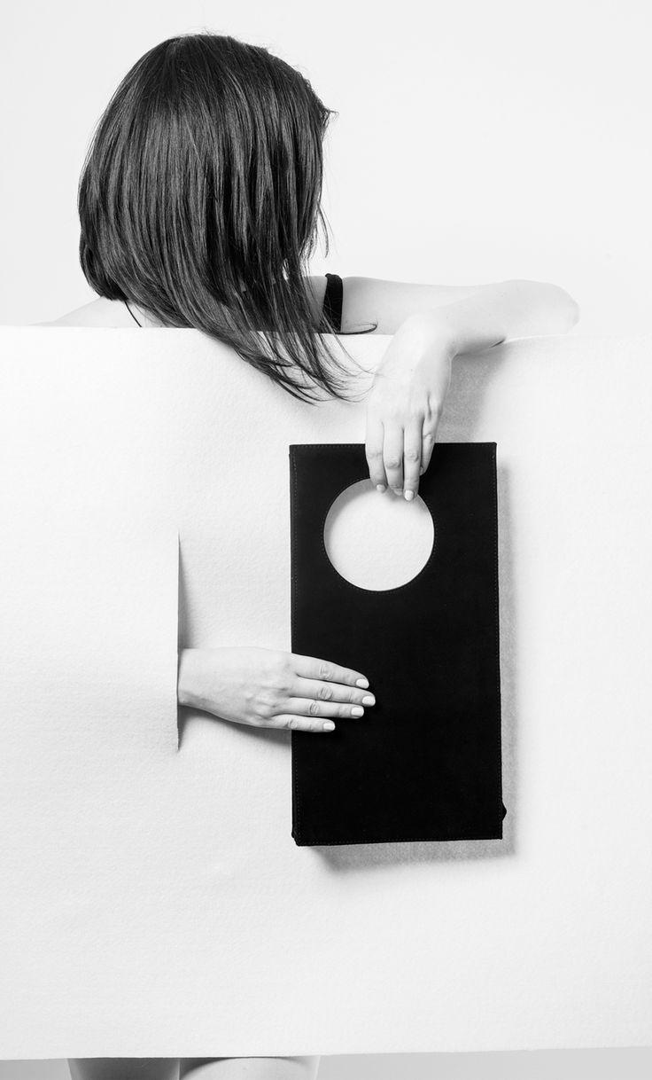 minimalist leather clutch by IF irinaflorea | https://www.facebook.com/irinafloreadesign/