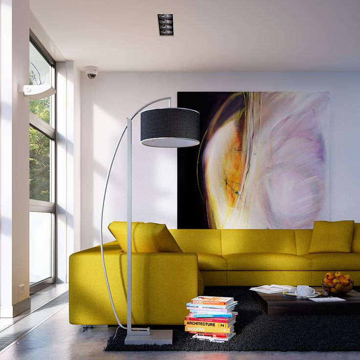 yellow couch | Living Room By George Nijland