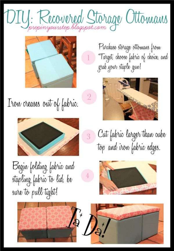 Dorm It Yourself: Storage Ottoman Recover, Super easy and only costs about  $25! - 421 Best Images About Dorm Room Ideas On Pinterest Colleges