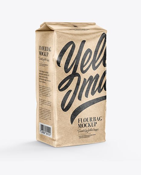 Download Kraft Flour Bag Mockup Half Side View In Bag Sack Mockups On Yellow Images Object Mockups Mockup Free Psd Free Psd Mockups Templates Mockup Free Download