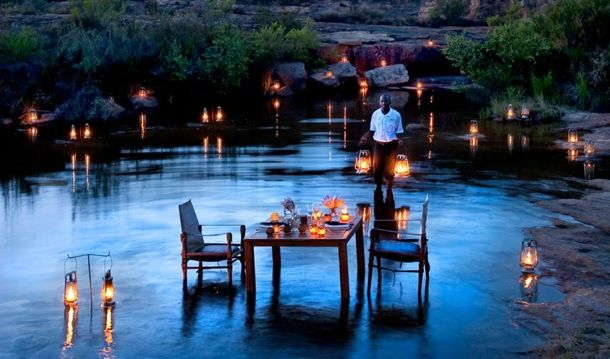 Bushmans Kloof- The resort offers extraordinary private dining experiences on request, from gourmet picnics to candlelight meals at special locations in the reserve, or even a walled garden. Herbs and produce are grown fresh on the property