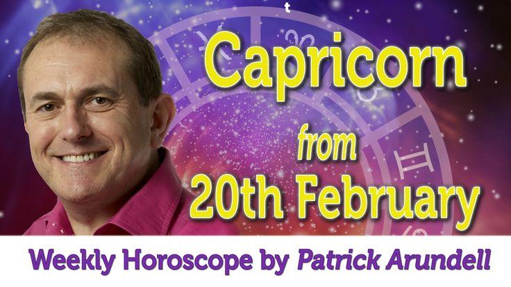 Capricorn Weekly Horoscope from 20th February 2017