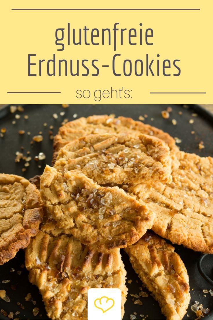 Egal ob du eine Glutenunverträglichkeit hast oder aus einem anderen Grund auf Gluten verzichtest - diese köstlichen Erdnuss-Cookies kommen ganz ohne Mehl aus!