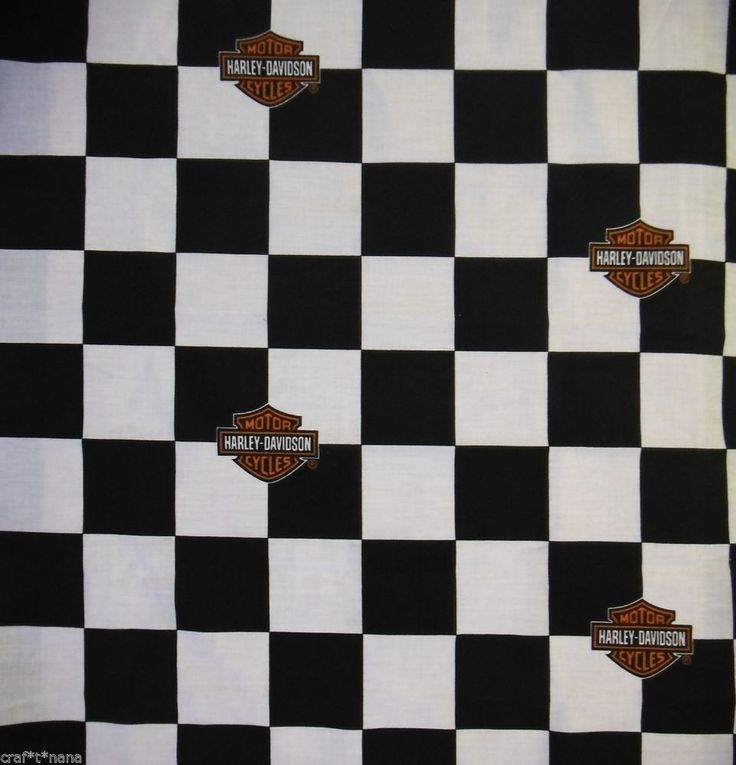 Harley Davidson fabric  24X15 HARLEY FABRIC REMNANT #harley