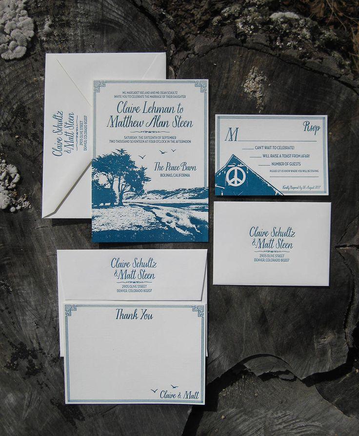 custom letterpress wedding invitation...have it custom designed with an image of your wedding venue!