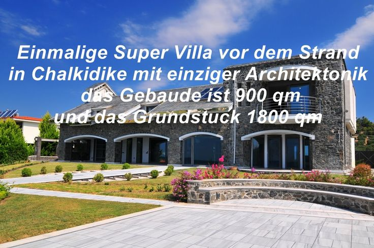 Luxus Villa 900qm vor dem Strand in Chalkidki