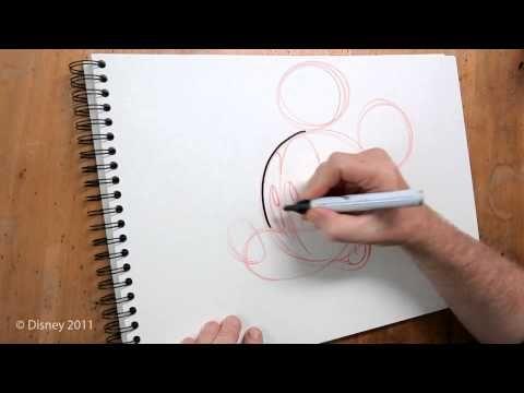 Apprend à dessiner Mickey Mouse (FR) - YouTube