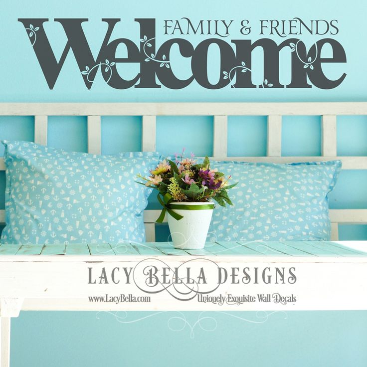 Best Entryway Decal Designs Images On Pinterest Wall Stickers - How to make vinyl wall decals with silhouette cameo