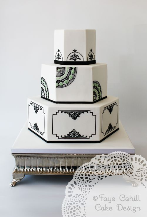 Art Deco Design Cake : 2053 best images about Wedding Cakes & Desserts on ...