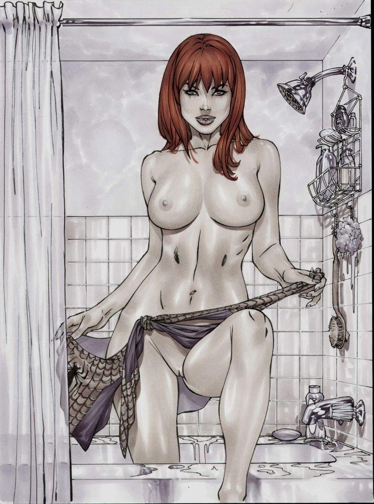 drawings of topless women