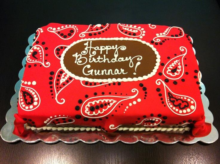 Cowboy bandana cake