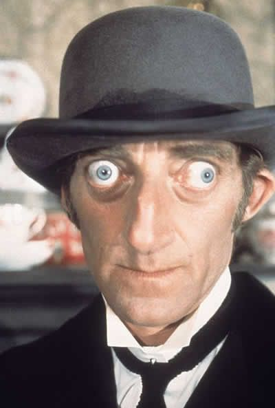 Marty Feldman (1934 – 1982) was an English writer, comedian and BAFTA award winning actor, notable for his bulging eyes, which were the result of a thyroid condition known as Graves Disease.