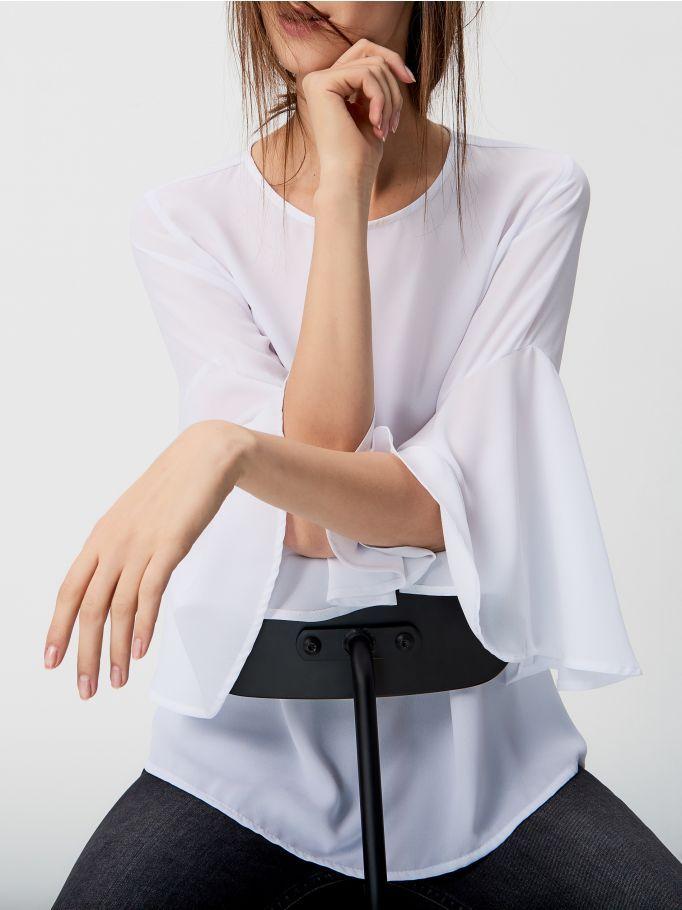 Рубашка с расширенными рукавами, MOHITO