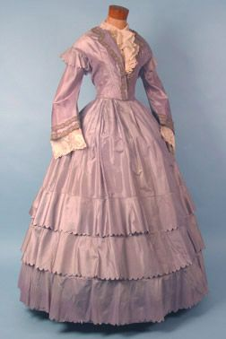 Dress, 1850s, Karen Augusta Antique Lace & Fashion Why is this on Things I Need for College?  Now that doesn't make sense.