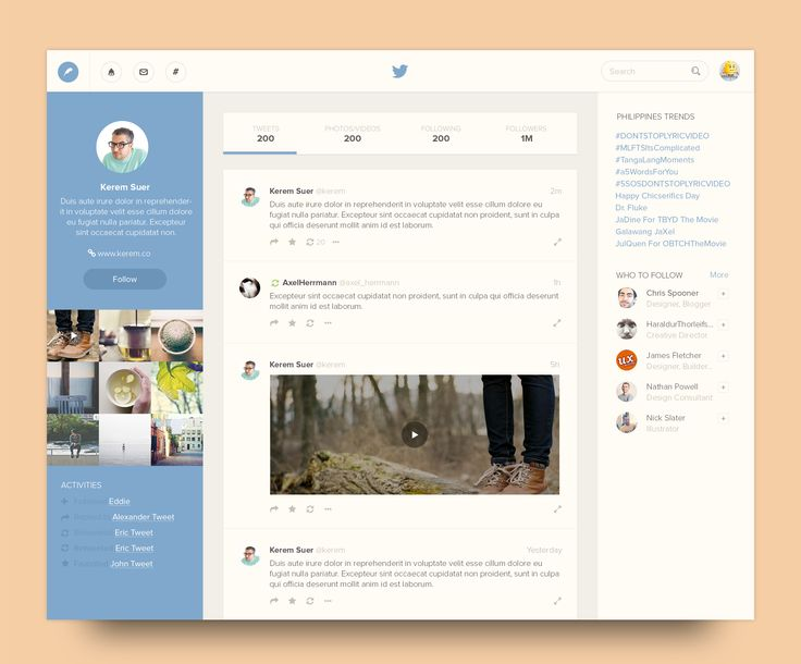 Twitter redesign concept