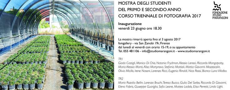 Mostra degli studenti del I & II anno Corso Triennale di Fotografia dal 23 giugno al 3 agosto 2017 fsmgallery (via San Zanobi 19r, Firenze) www.studiomarangoni.it