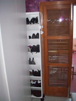 shoe storage from bookshelf   another ikea hack!!!