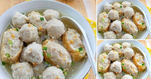Soup Bakso Tahu Isi Bikinnya Gampang Dan Nggak Ribet Resep Spesial Bakso Ide Makanan Makanan Dan Minuman