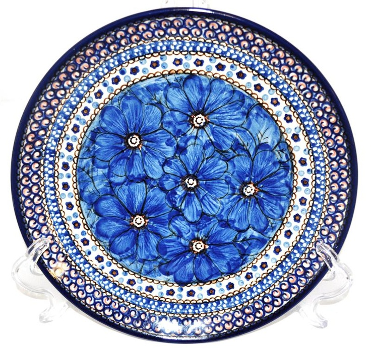 My favorite Polish pottery pattern. Love the blue flowers. dd