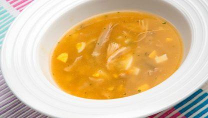 Receta de Sopa de pollo con estrellitas