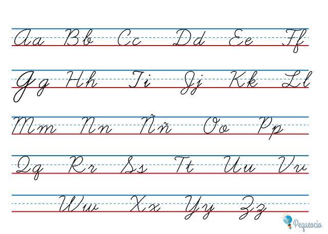 Abecedario El Abc De Las Letras Vocales Y Consonantes Pequeocio Alfabeto Cursiva Abecedario En Cursiva Abecedario Letra Cursiva