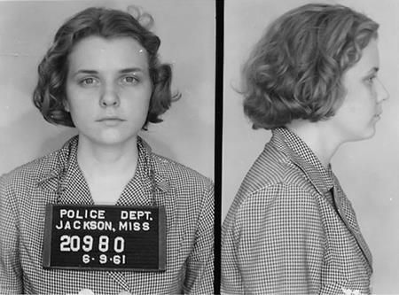 """Her name is Winonah Myers and she was a white student at the historically black Central State University in Wilberforce, Ohio. Arrested for being a Freedom Rider, she stayed in Parchman for her full 6-month sentence, the only Freedom Rider to serve a full term. """"I felt there should be a little historical footnote that for sitting next to a friend on the (bus), this was the punishment meted out,"""" she added. """"I didn't think it would be recorded if no one had done the time."""" said Myers, 69"""
