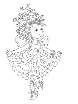 Fancy Nancy Coloring Pages | Fancy Nancy Curtseying coloring page | Super Coloring