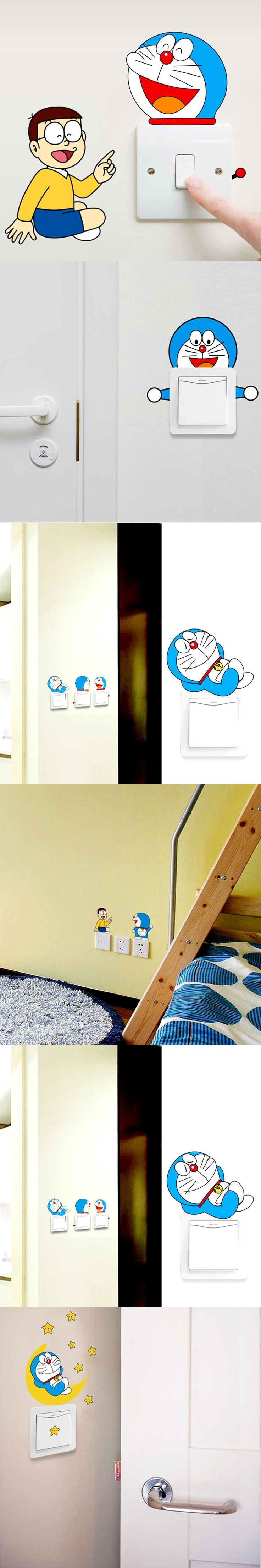 101 best wd switches images on pinterest light switches wall 1 set of 10pcs removable cute lovely cartoon hello kity switch wall sticker home decor vinyl decal wall stickers for kids rooms