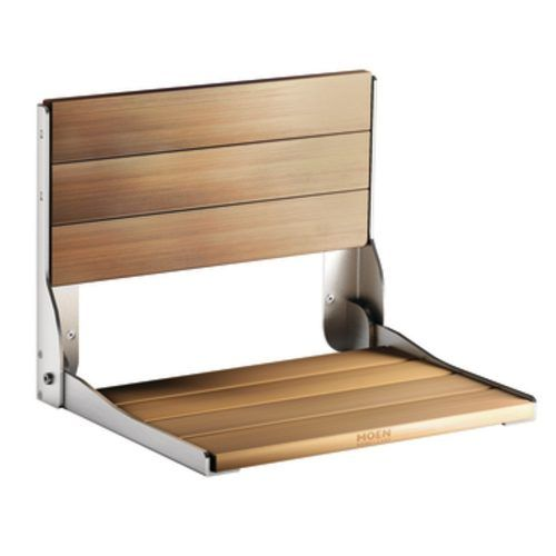 2. Moen Teak Wood Folding Shower Seat